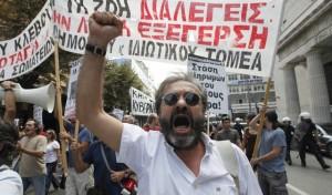 В Греции опять штормит.